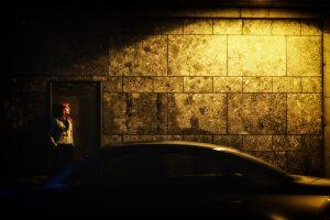 girl standing in a doorway